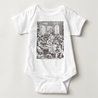 The Reward of Cruelty by William Hogarth Baby Bodysuit