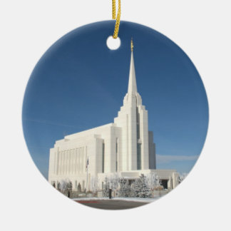 The Rexburg LDS Temple Ceramic Ornament