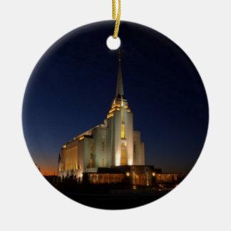 The Rexburg LDS Temple Christmas Ornaments