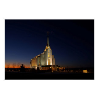 The Rexburg LDS Temple Poster