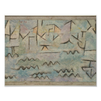 The Rhine at Duisburg , Paul Klee Poster
