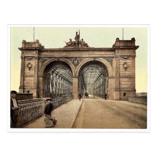 The Rhine Bridge, Mannheim, Baden, Germany rare Ph Postcard