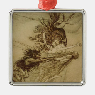 The Rhinemaidens teasing Alberich Metal Ornament