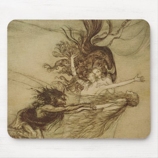The Rhinemaidens teasing Alberich Mouse Pad