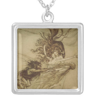 The Rhinemaidens teasing Alberich Silver Plated Necklace