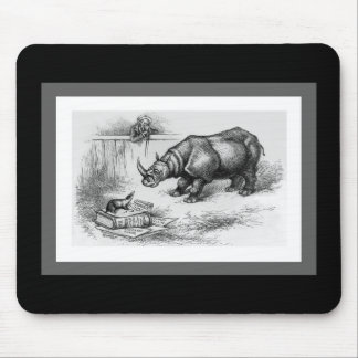 The Rhino and the Badger Mouse Pad