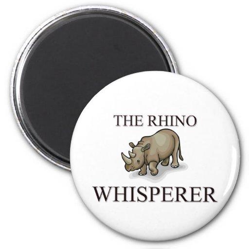 The Rhino Whisperer Fridge Magnet