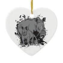 The Rhinos Ceramic Ornament