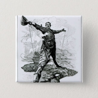 The Rhodes Colossus from Punch Pinback Button