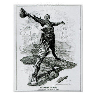 The Rhodes Colossus from Punch Poster
