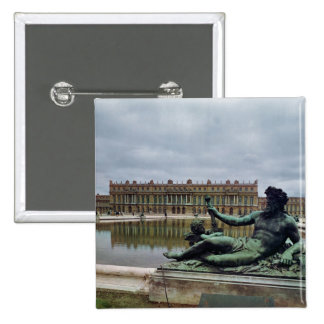 The Rhone, fountain by Jean-Baptiste Tuby 2 Inch Square Button