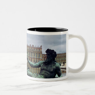 The Rhone, fountain by Jean-Baptiste Tuby Two-Tone Coffee Mug