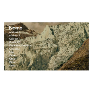 The Rhone Glacier Valais Alps of Switzerland cl Business Card