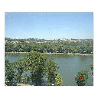 The Rhone seen of the ramparts of Avignon Photo Print