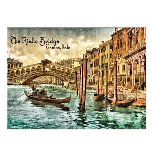 The Rialto Bridge Postcard