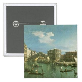 The Rialto Bridge, Venice 2 Inch Square Button