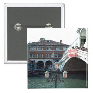 The Rialto Bridge,Venice 2 Inch Square Button