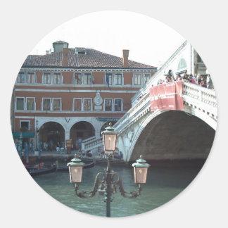 The Rialto Bridge,Venice Classic Round Sticker
