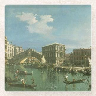 The Rialto Bridge, Venice Glass Coaster