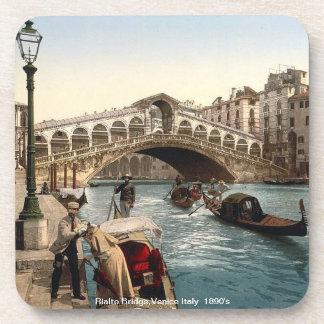 The Rialto Bridge Venice Italy 1890 s Beverage Coaster