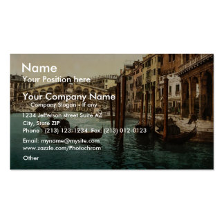 The Rialto Bridge, Venice, Italy classic Photochro Double-Sided Standard Business Cards (Pack Of 100)