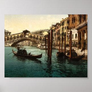The Rialto Bridge Venice Italy classic Photochro Posters