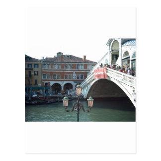 The Rialto Bridge,Venice Postcard