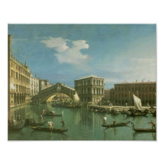 The Rialto Bridge, Venice Poster