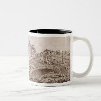 The Rialto Bridge, Venice Two-Tone Coffee Mug
