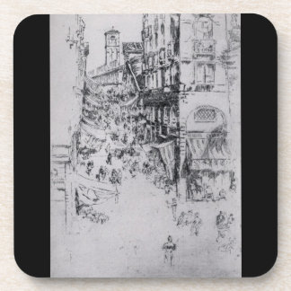 The Rialto by James Abbott McNeill Whistler Drink Coaster