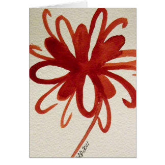 """The Ribbon"" Abstract Acrylic Linda Powell Card"