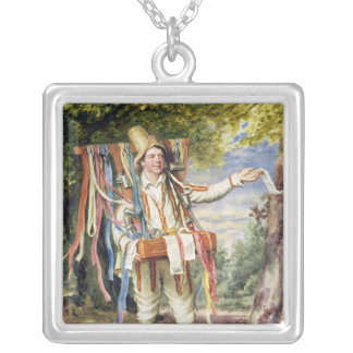 The Ribbon Seller, 1874 Silver Plated Necklace