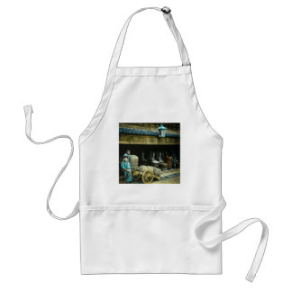 The Rice Merchants of Old Japan Vintage Japanese Adult Apron