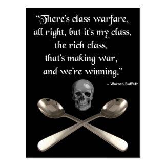 The rich are winning the class warfare postcard
