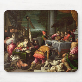 The Rich Man and Lazarus, 1590-95 Mouse Pad