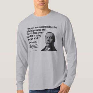The Rich Object to Being Governed at All T Shirt