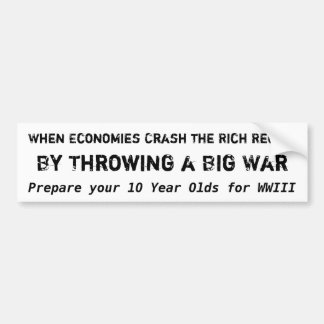 The Rich Recoup, By Throwing a Big War Bumper Sticker