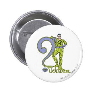 The Riddler & Logo Green 2 Inch Round Button