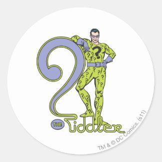 The Riddler & Logo Green Classic Round Sticker