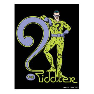 The Riddler & Logo Green Postcard