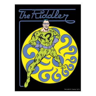 The Riddler & Logo Purple Postcard