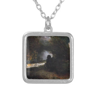 The Ride of Death (The Fall and Death) by Arnold Square Pendant Necklace