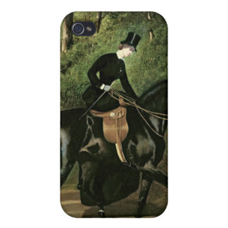 The Rider Kipler on her Black Mare iPhone 4 Cases