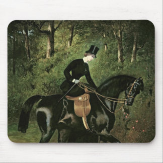 The Rider Kipler on her Black Mare Mouse Pad