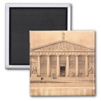 The Riding School of the Imperial Guards, St. Pete 2 Inch Square Magnet
