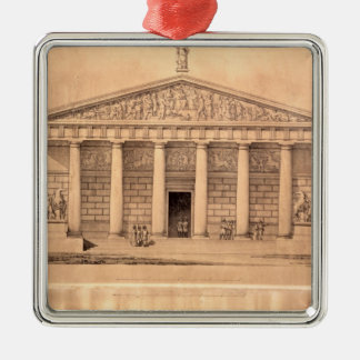 The Riding School of the Imperial Guards, St. Pete Metal Ornament