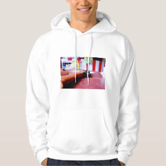 The rifle of morphism of Showa rows of buildings Hoody