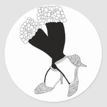 artsprojekt,fashion,woman,illustration,design,feet,legs,shoes,feminine,art,shoe,classic,foot,girl,home,minimalism,wall,decor,black,white,stand,balance,glamour, Sticker with custom graphic design