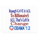 The Right Gave It All To Billionaires Post Card