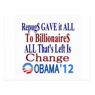 The Right Gave It All To Billionaires Postcard